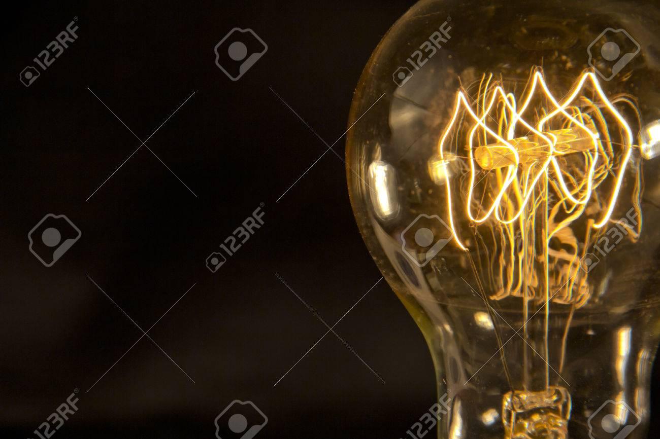 Decorative antique edison style filament light bulb Stock Photo - 40629911