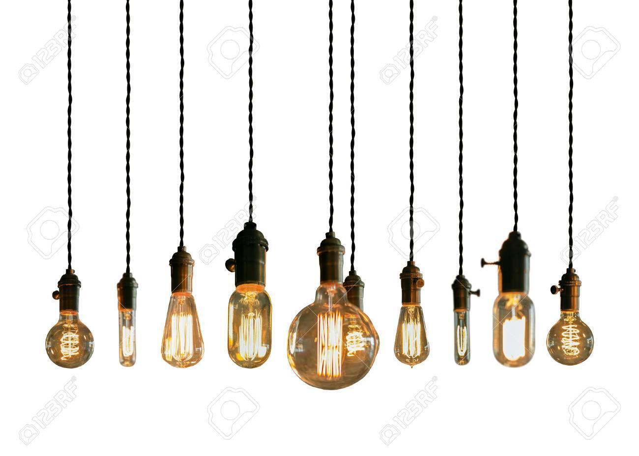 Decorative antique edison style filament light bulbs Stock Photo - 42522702