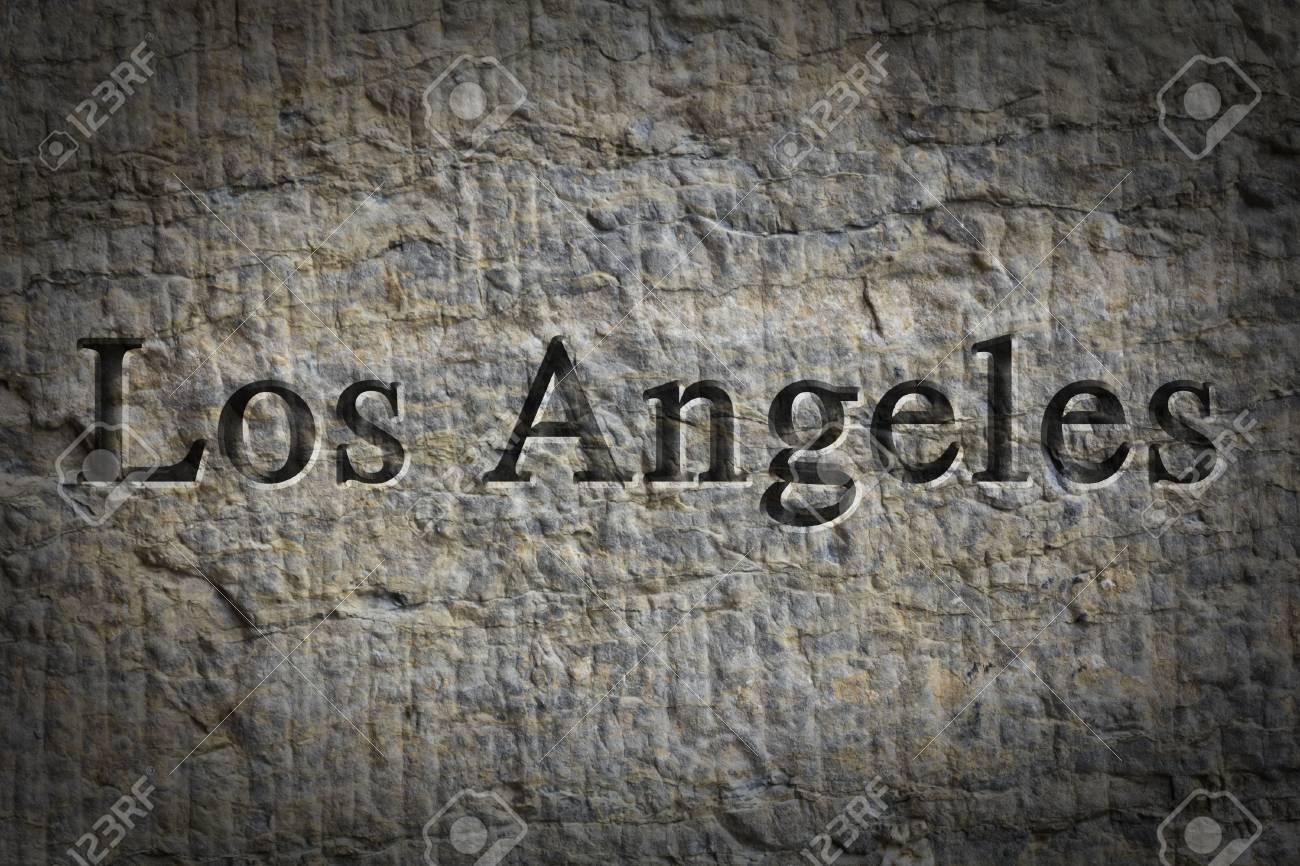Grabado De Ortografía De La Ciudad De Los Ángeles En Superficie ...