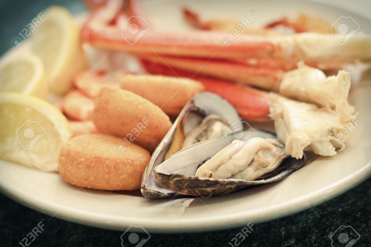 Seafood Medley Including Crab Legs ...