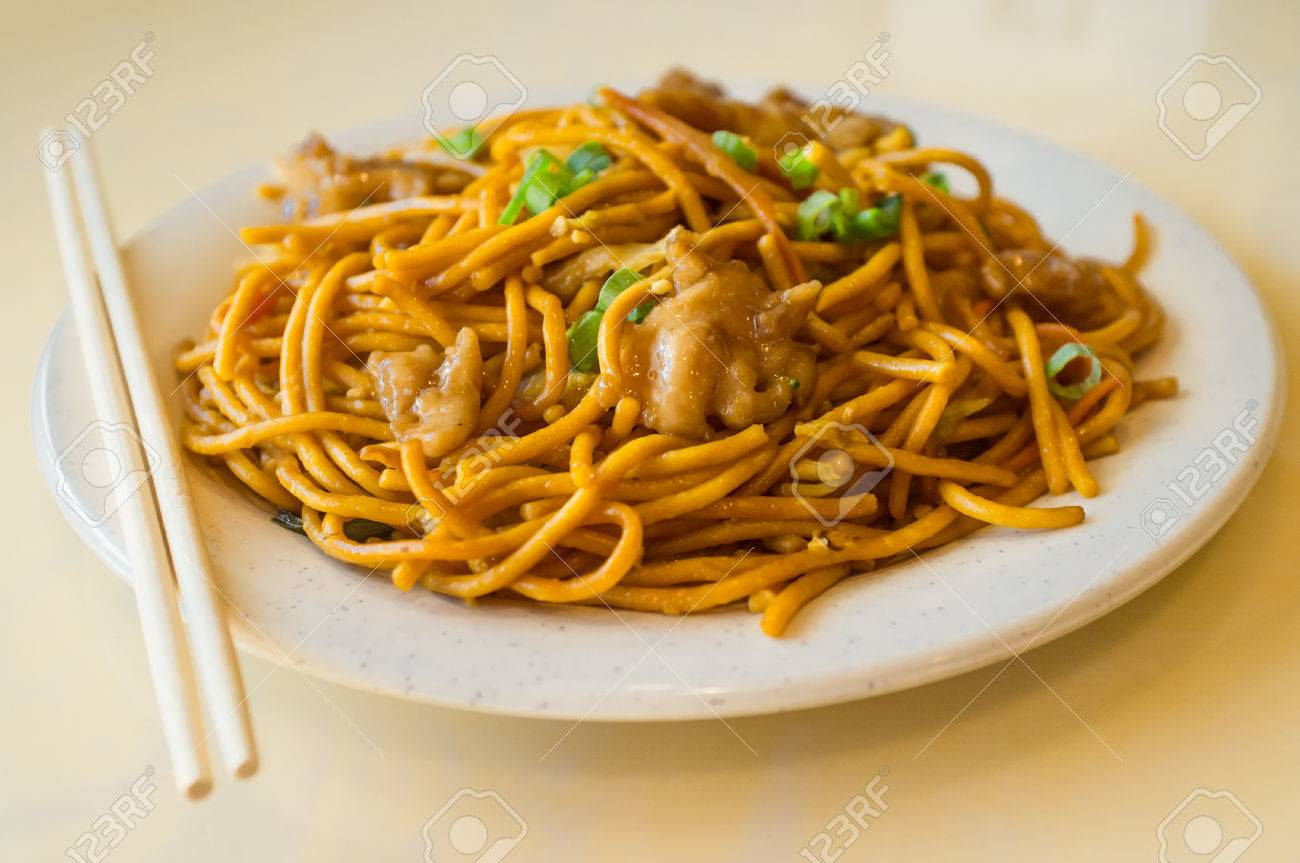 Chinese food tasty chicken lo mein noodles at restaurant stock photo chinese food tasty chicken lo mein noodles at restaurant stock photo 65397922 forumfinder Images