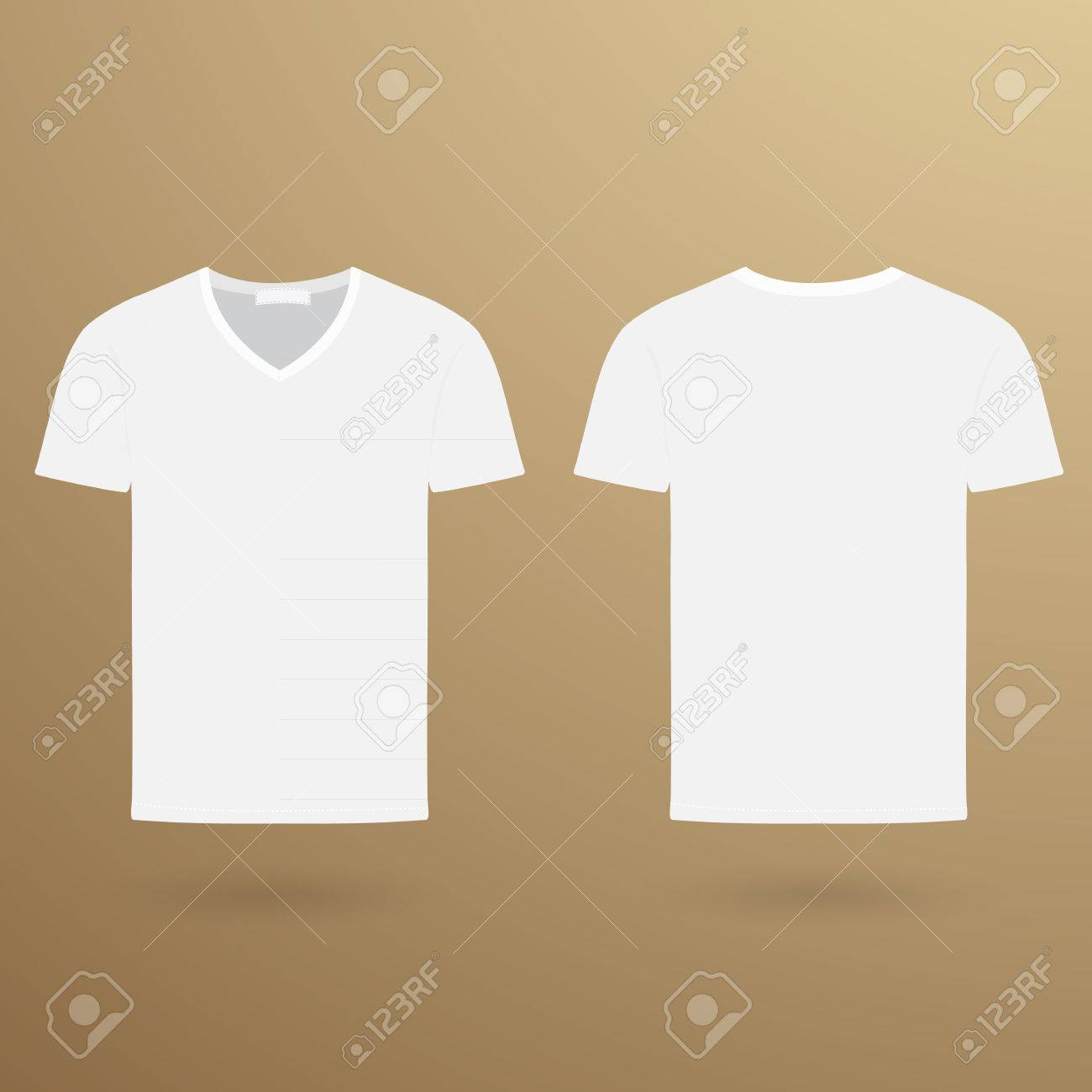 Blank V T Shirt Template Front And Back Royalty Free Cliparts