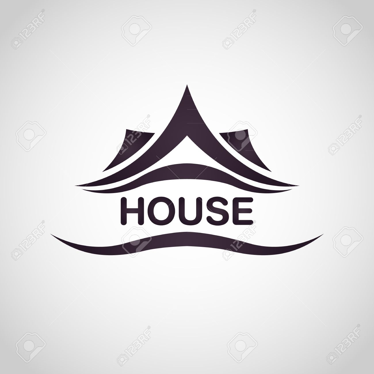 house abstract real estate logo design template stock vector 37095017