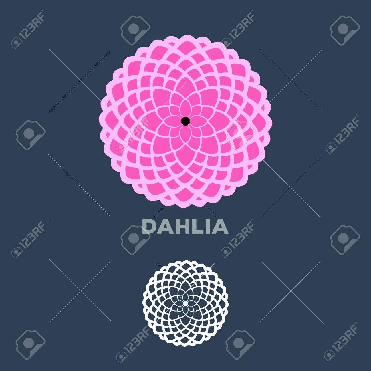Dahlia flower logo vector - 40701561
