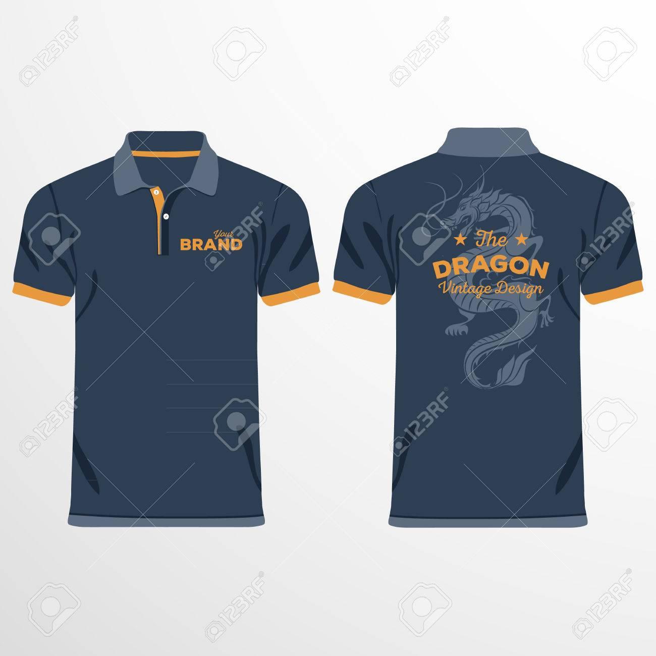 Color Men Polo Shirts Design Template Vector Illustration Royalty