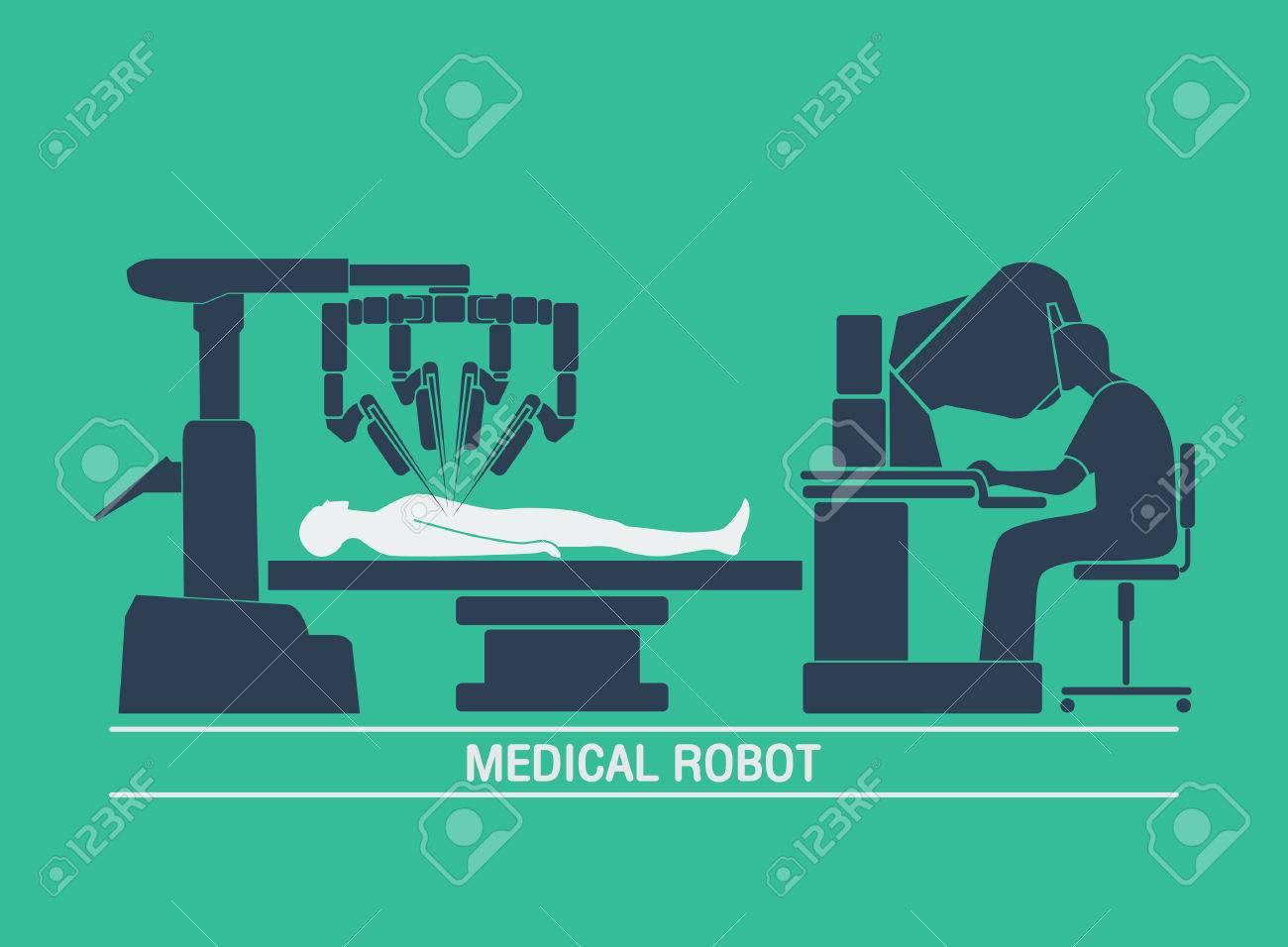 medical robot icon vector - 69245456