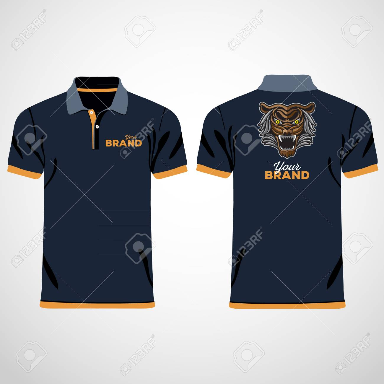 12154eacc Colored polo shirts. Design template. Vector illustration Stock Vector -  79334738