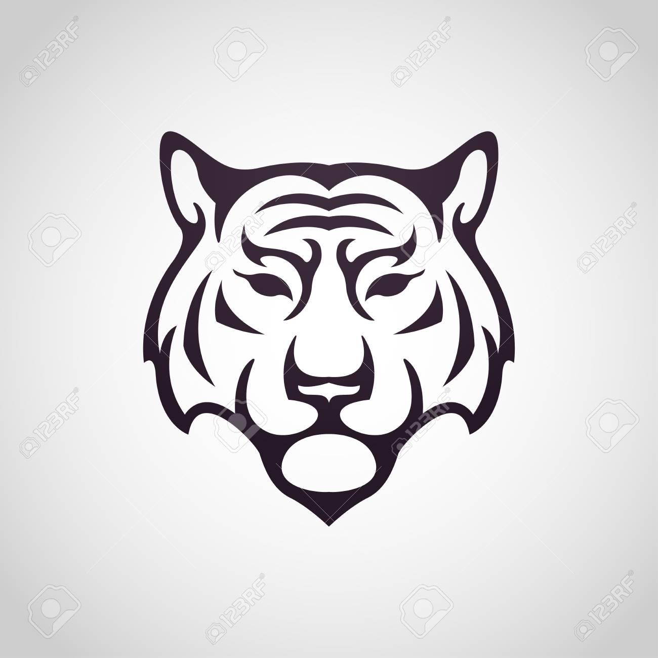 tiger vector logo icon illustration royalty free cliparts vectors