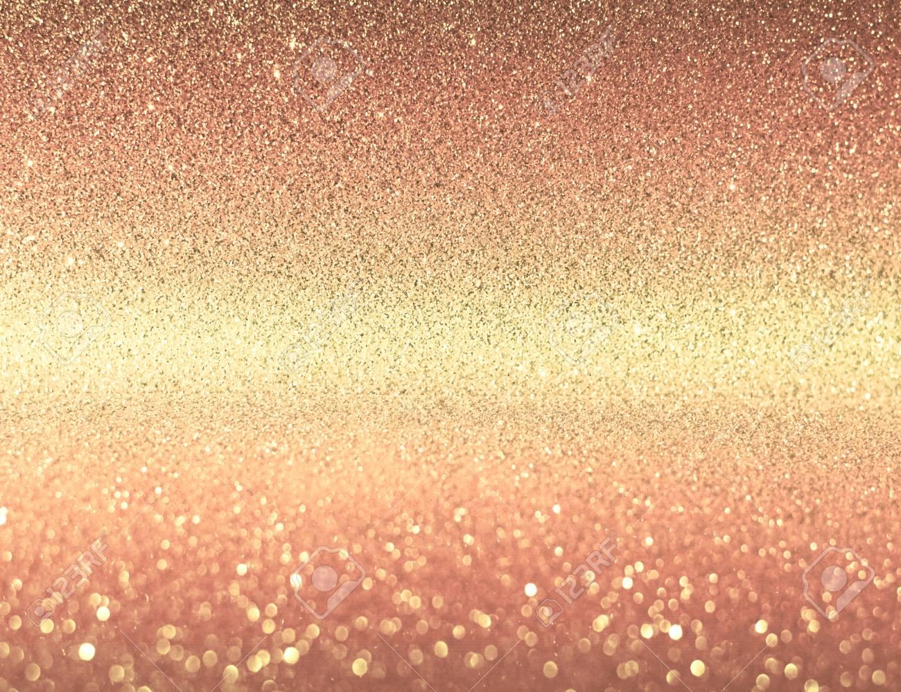 Nice Light Pink Gold Glitter Bokeh Texture Background Stock Photo   77488361