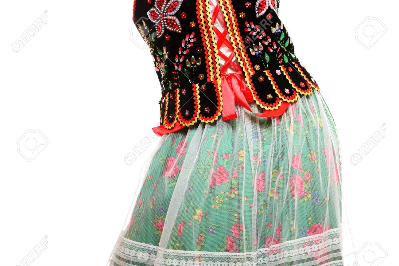 A close-up of a traditional Polish outfit over white background Stock Photo - 12198017