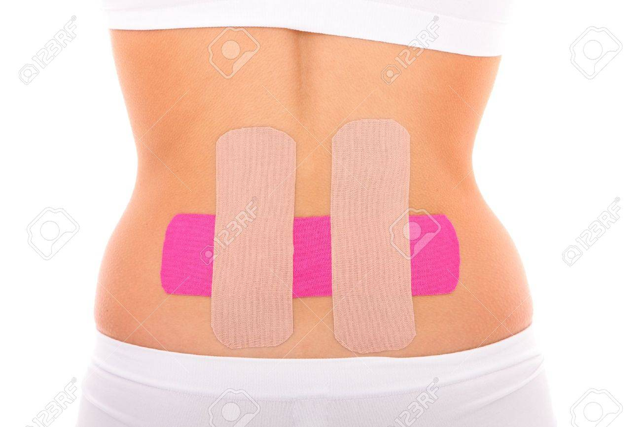 A Picture Of A Special Physio Tape Put On The Back Muscle Over ...