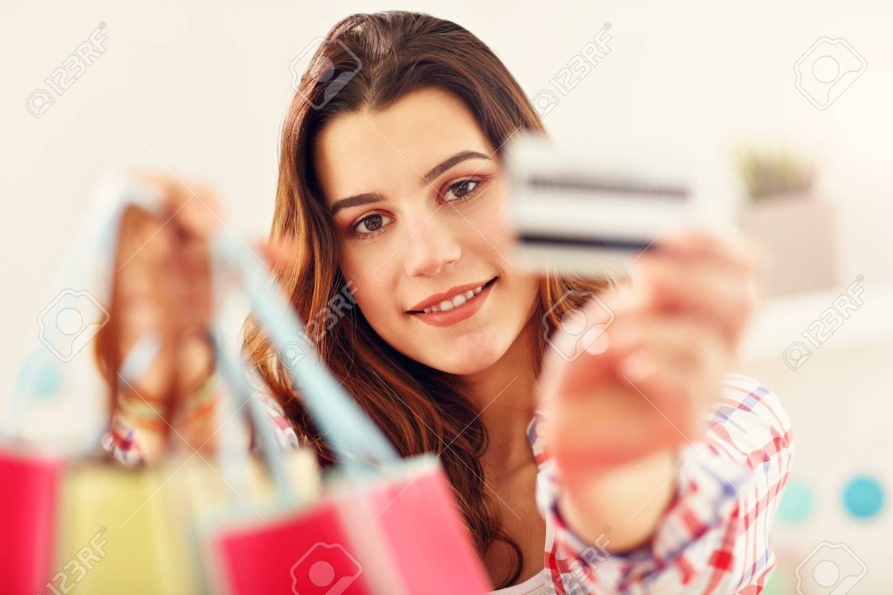 Attractive woman buying easter gifts online stock photo picture and attractive woman buying easter gifts online stock photo 96206911 negle Images
