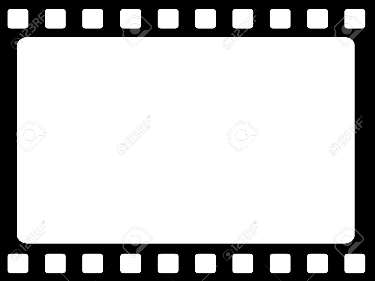 Blank Film Strip On A White Background Stock Photo, Picture And ...