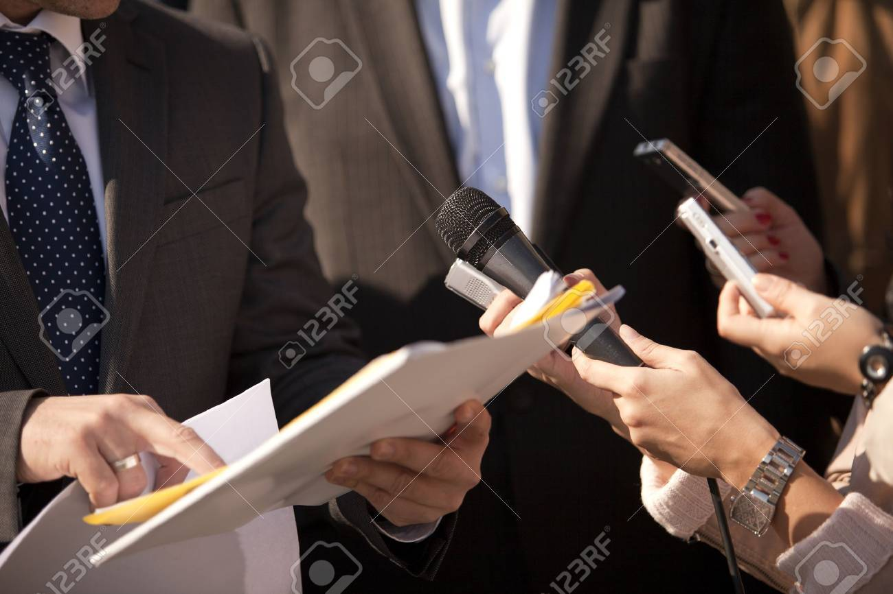 media interview Stock Photo - 11175916