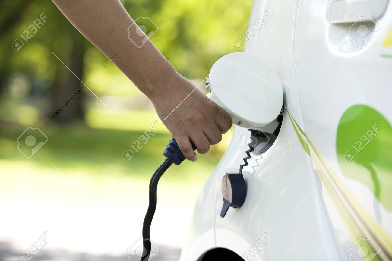 charging of an electric car - 17980247