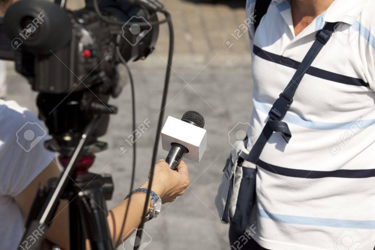 media interview Stock Photo - 18017000