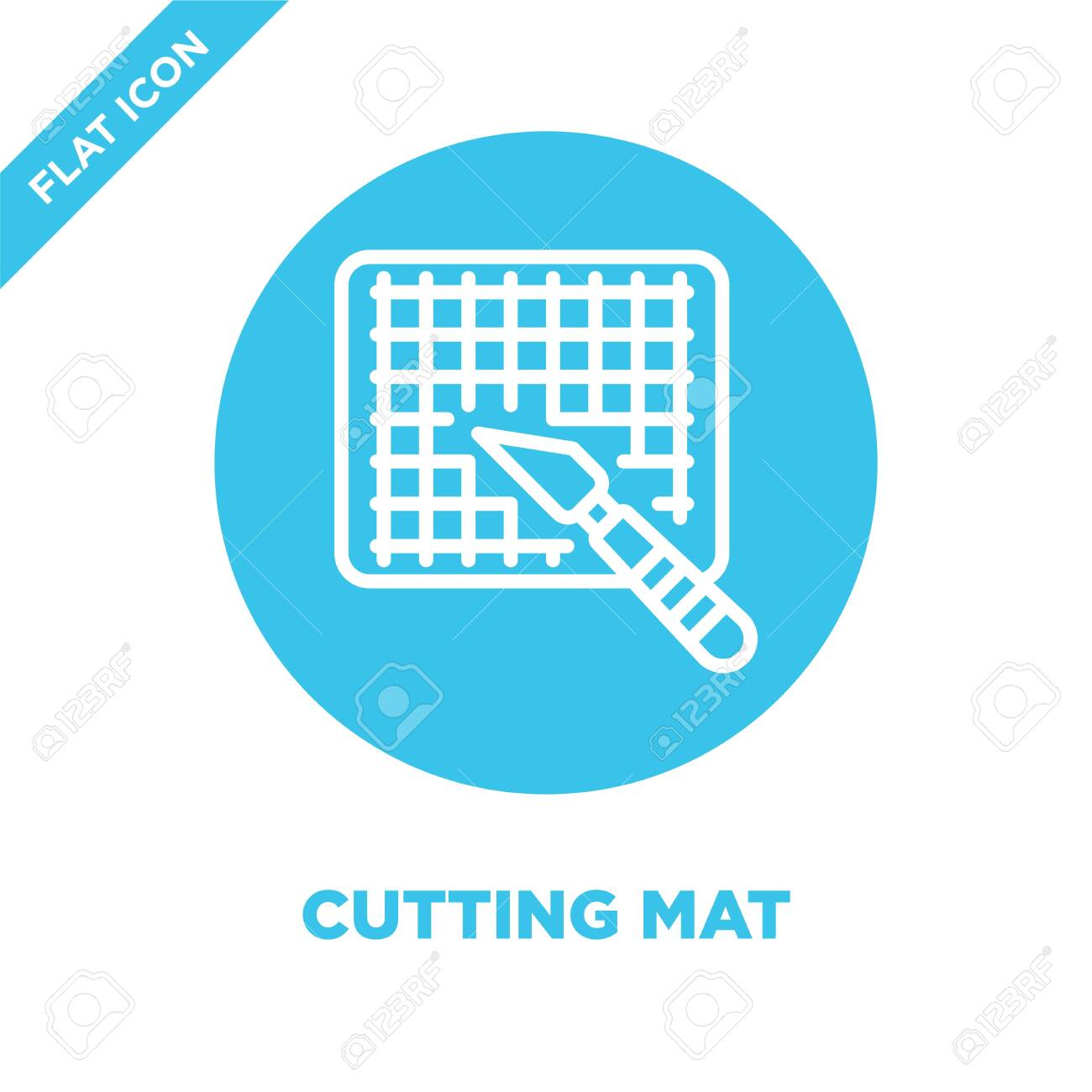 cutting mat icon vector from stationery collection  Thin line