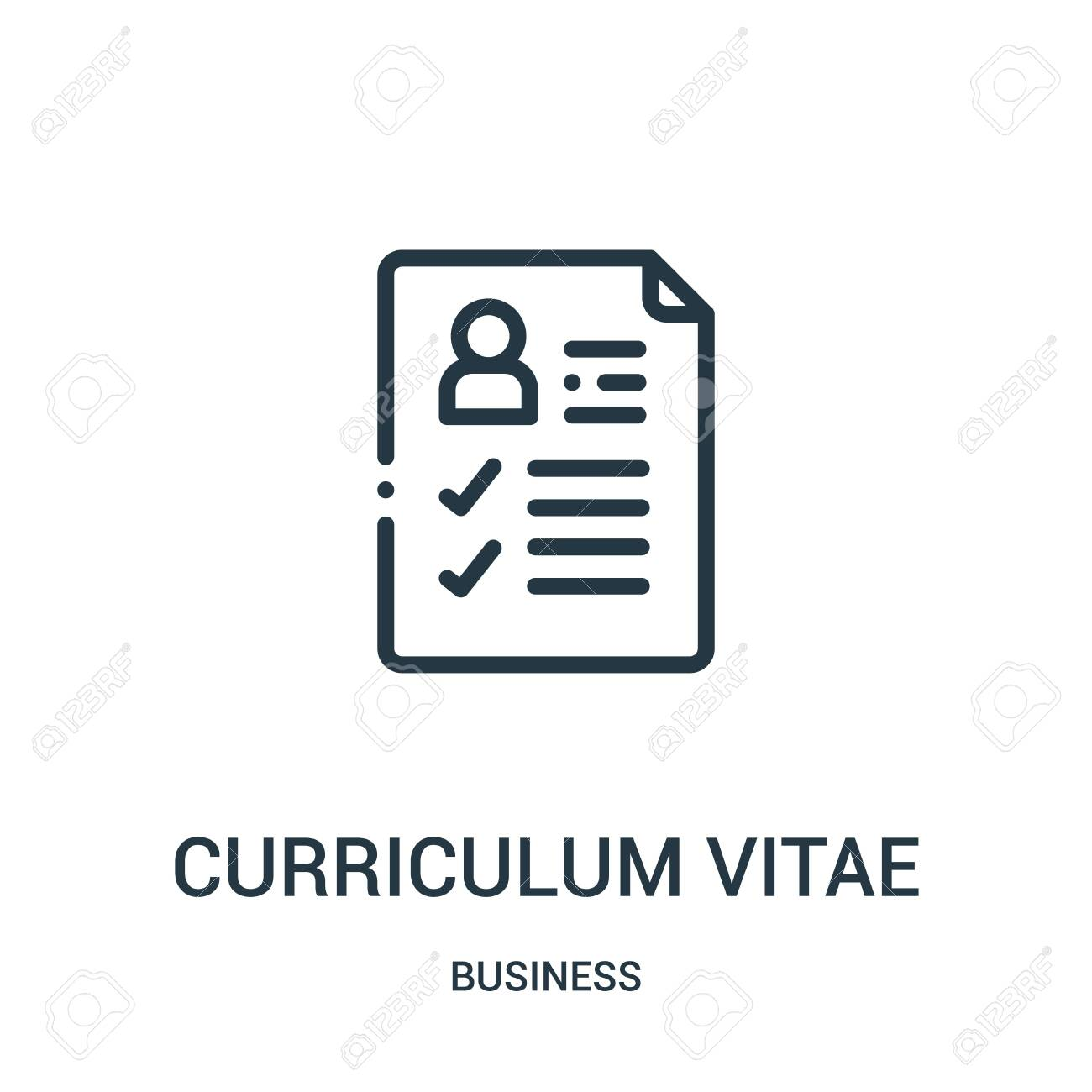Curriculum Vitae Icon Vector From Business Collection Thin Line