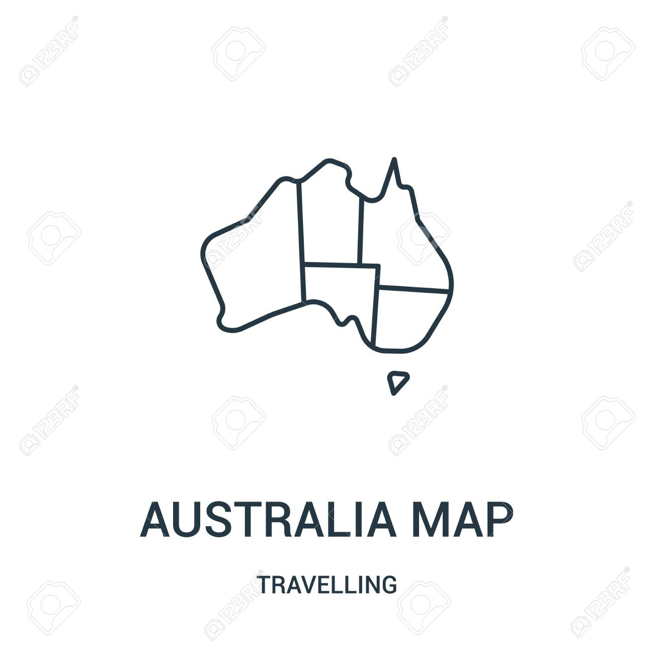 Australia Map Icon.Australia Map Icon Vector From Travelling Collection Thin Line