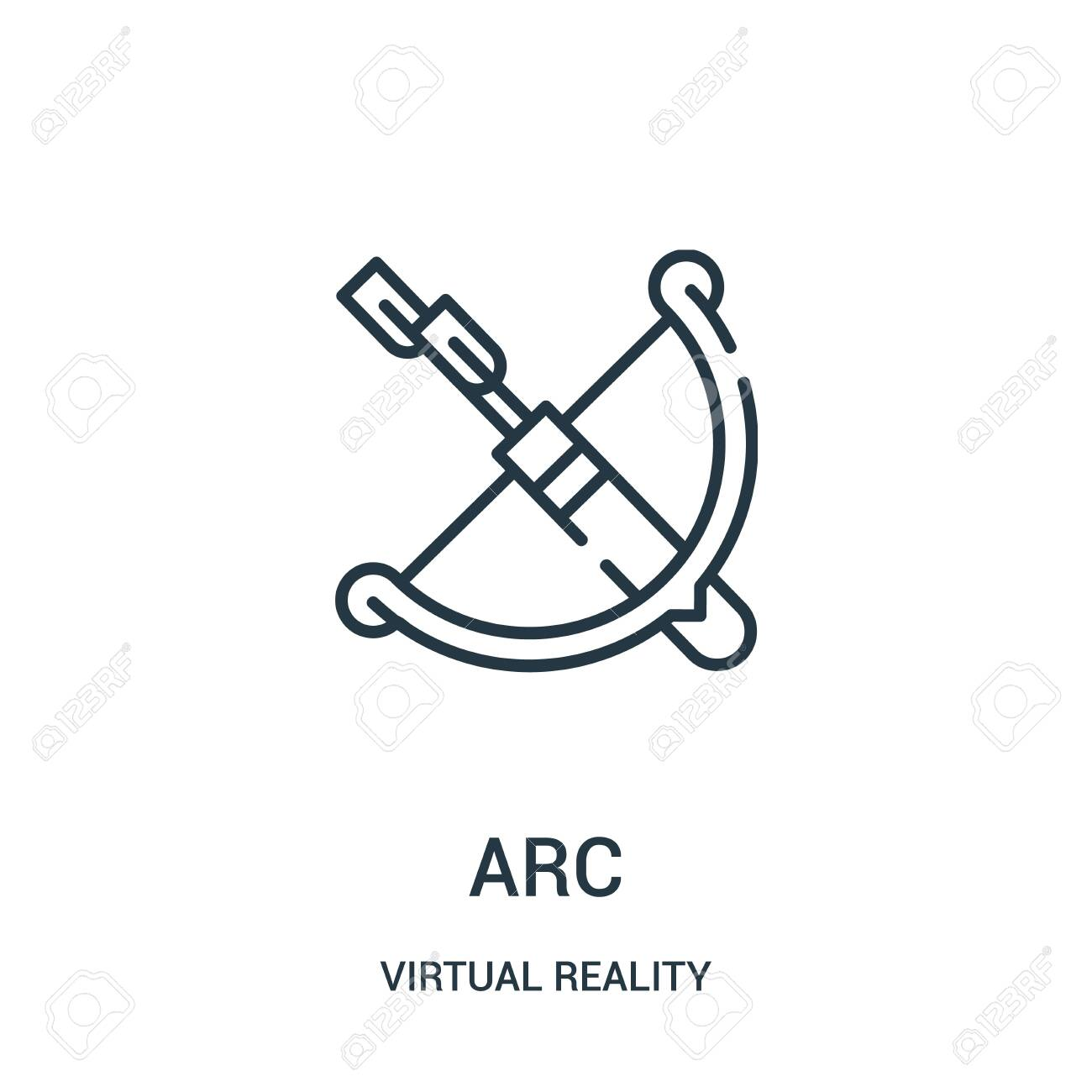 arc icon vector from virtual reality collection  Thin line arc