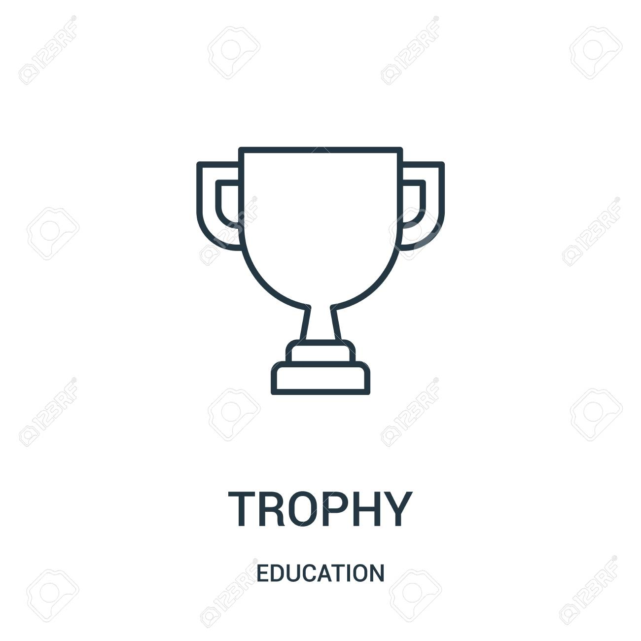 trophy icon vector from education collection  Thin line trophy