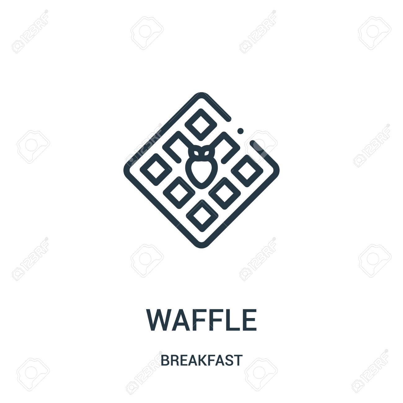 waffle icon vector from breakfast collection  Thin line waffle