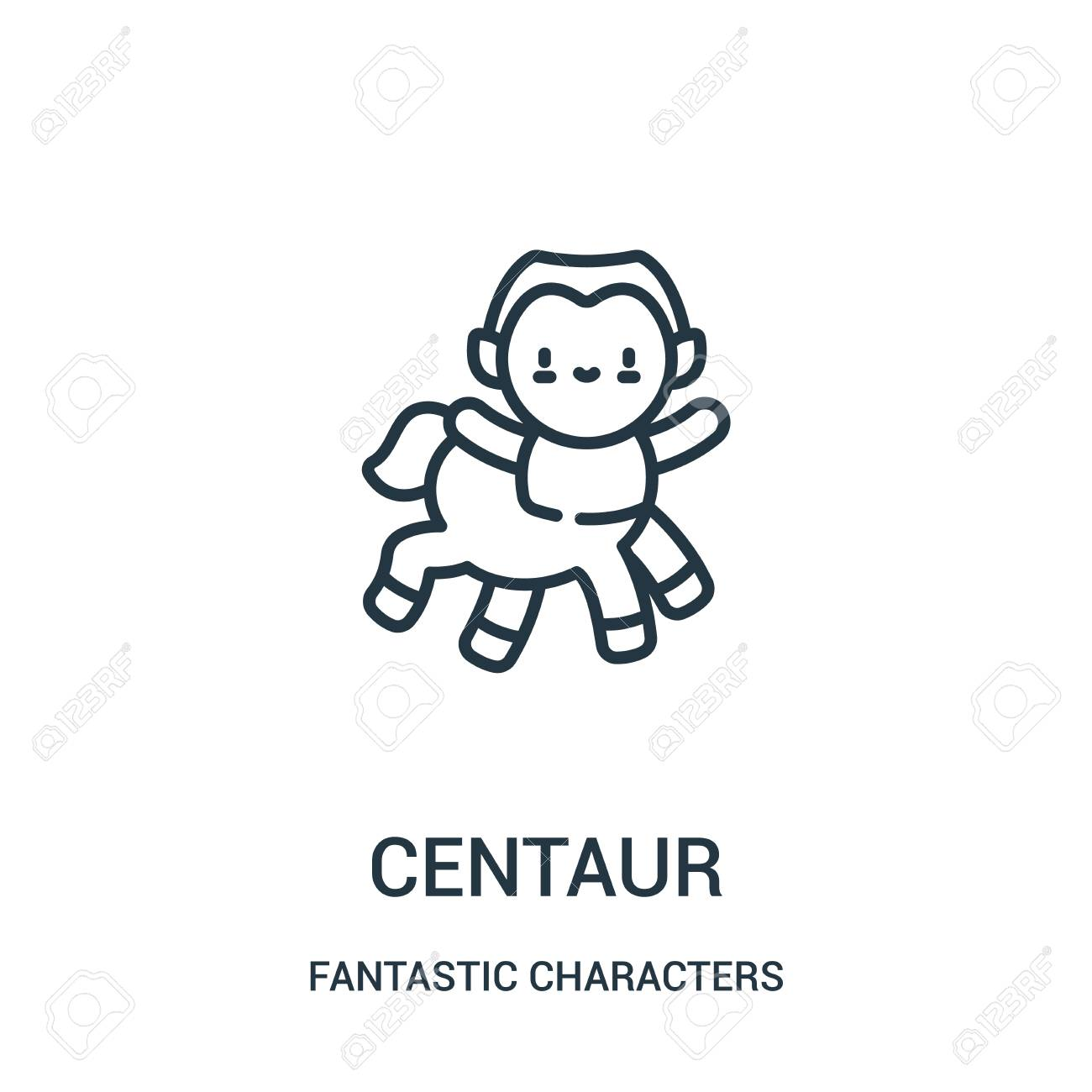 centaur icon vector from fantastic characters collection  Thin