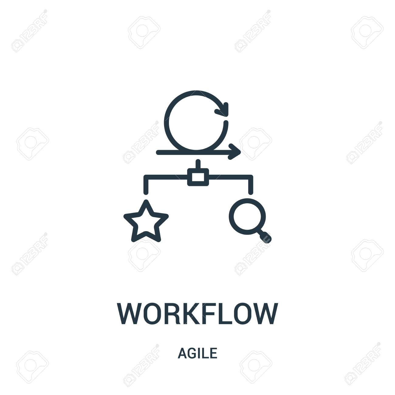 workflow icon vector from agile collection  Thin line workflow