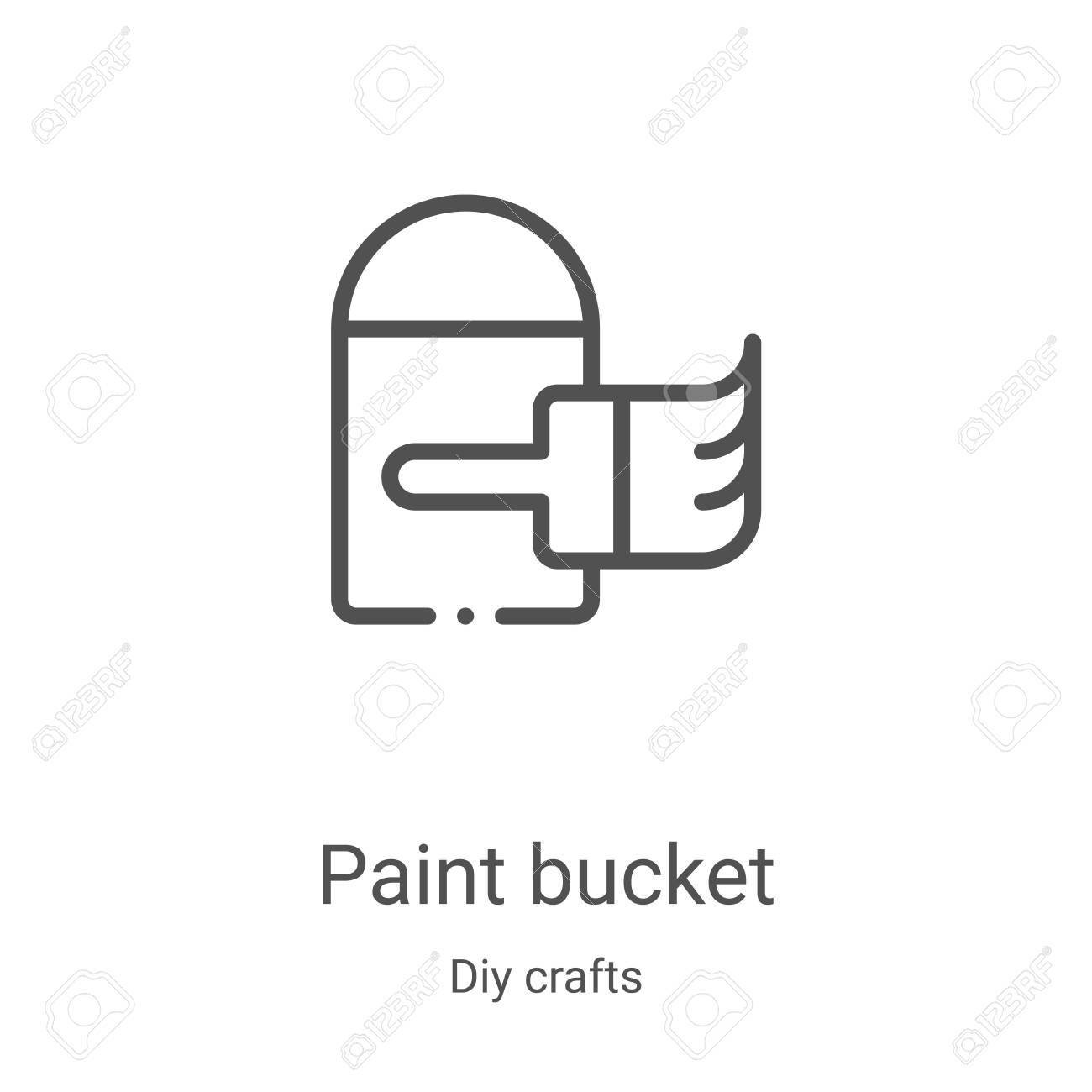 Paint Bucket Icon Vector From Diy Crafts Collection Thin Line Royalty Free Cliparts Vectors And Stock Illustration Image 135560678