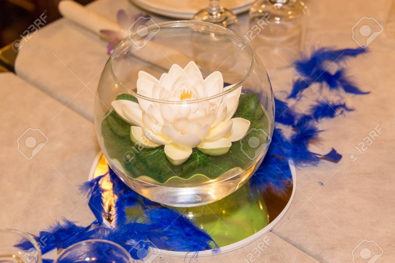 Rainbow Wedding Or Event Production Centerpiece Bowl With Lotus
