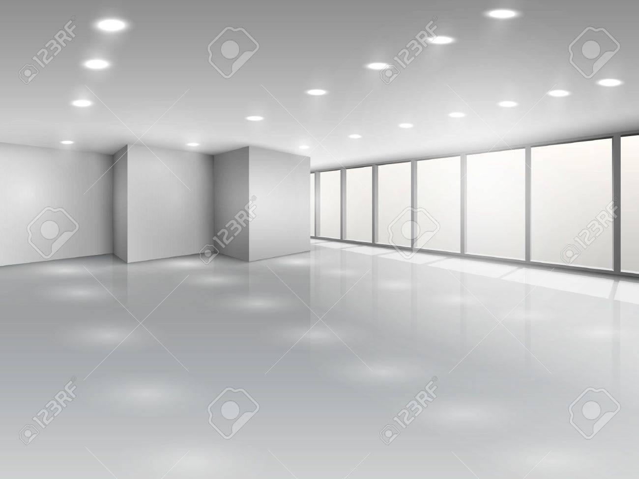 Interior office windows - Light Conference Room Or Office Open Space Interior With Windows Vector Illustration Stock Vector 24757724