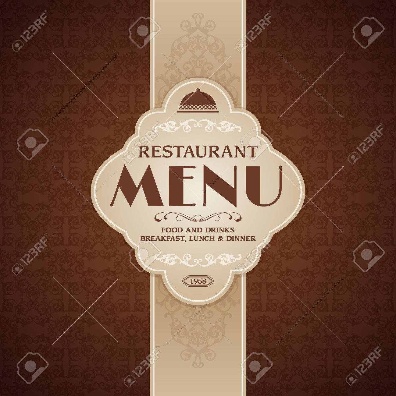 Restaurant Cafe Menu Brochure Template With Cooking Elements - Menu brochure template free