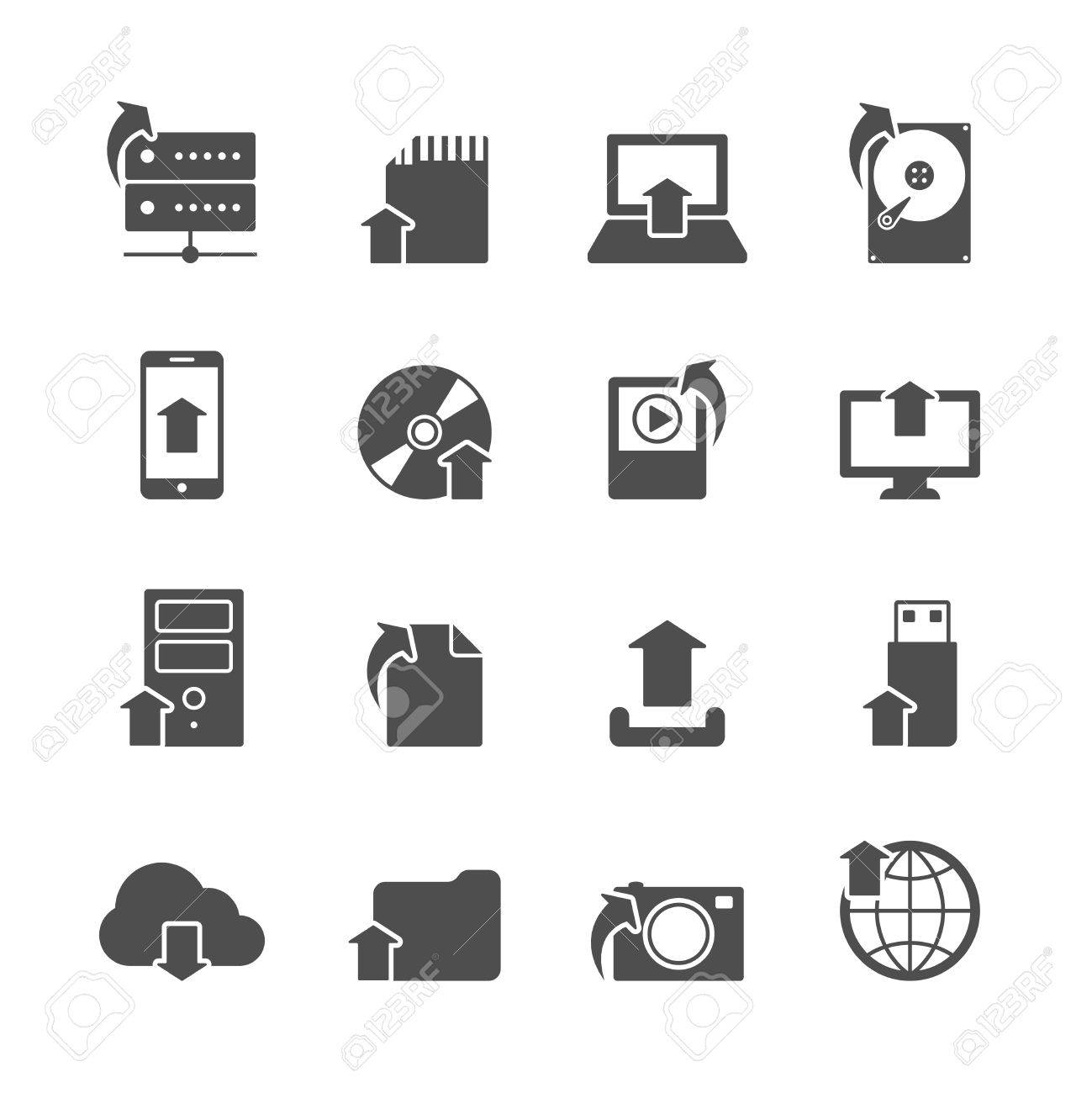 Internet Upload Symbols Collection For Computer And Mobile ...