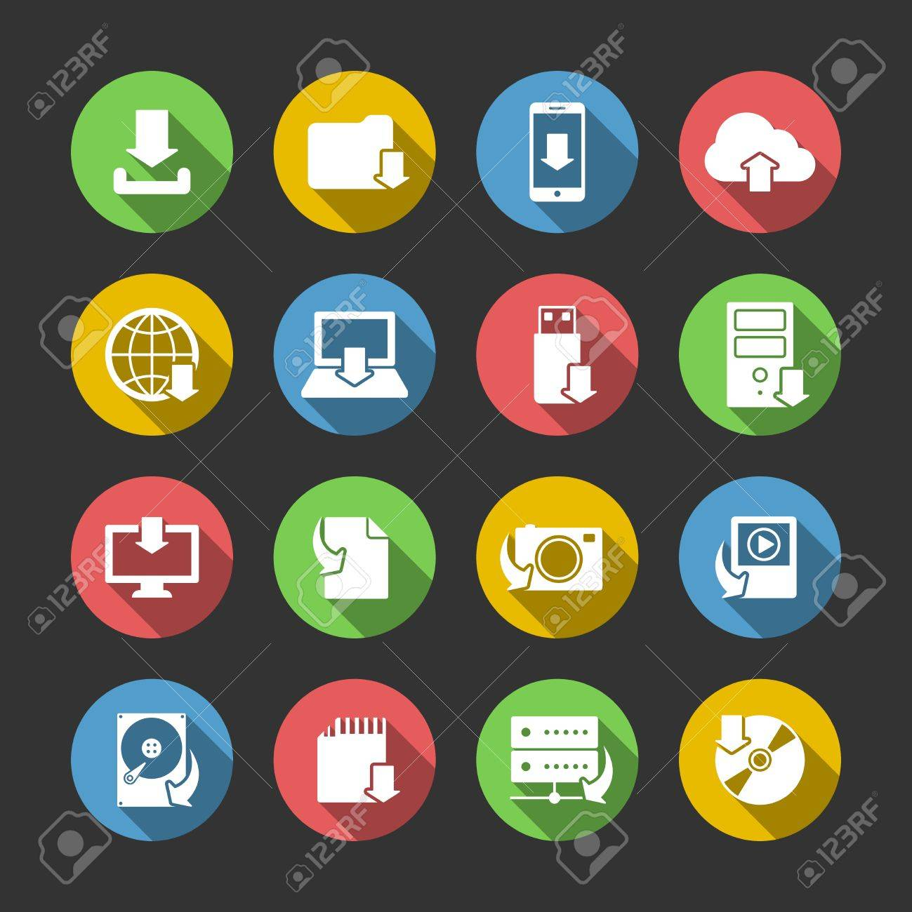 Internet-Download-Symbole Sammlung Für Computer Und Mobile ...
