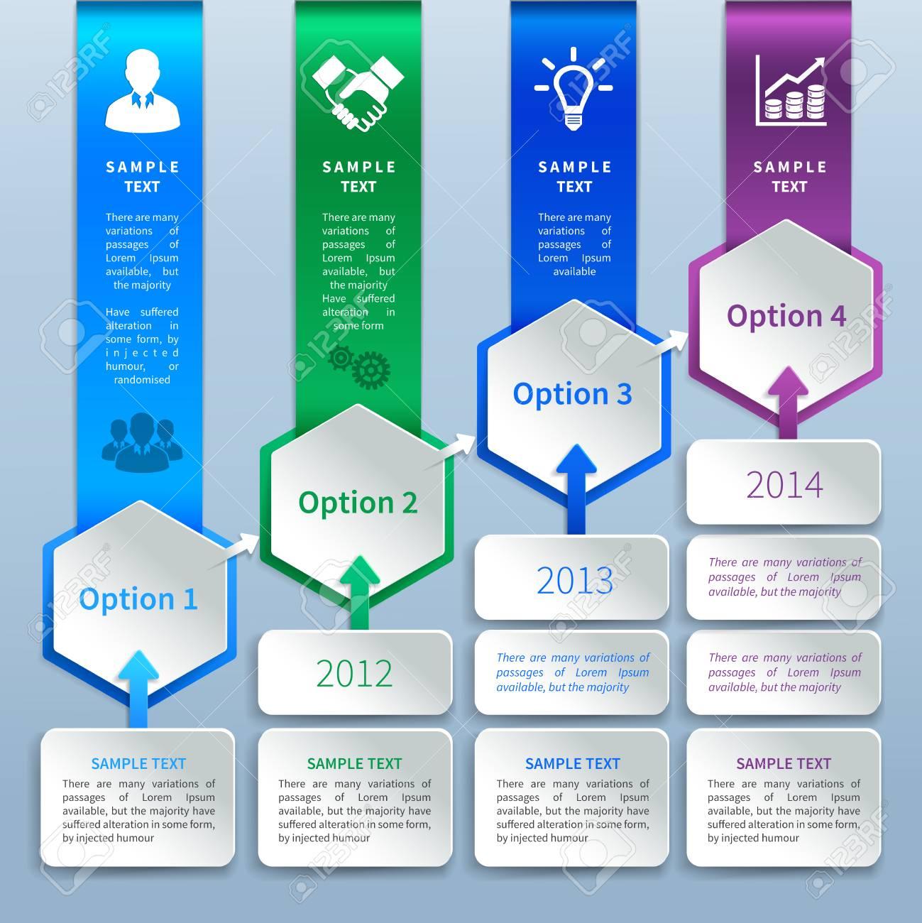 Zusammenfassung Geschäftspapierkarte Infografiken Design-Vorlage Mit ...