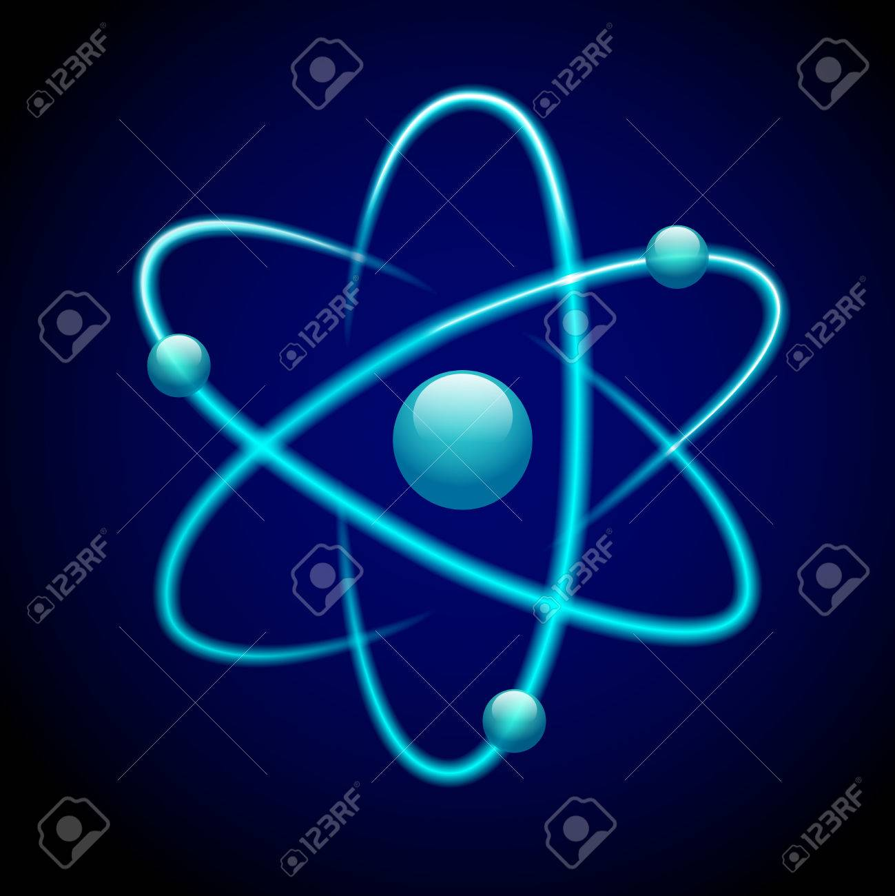 Atom 3d blue abstract nuclear structure science model symbol atom 3d blue abstract nuclear structure science model symbol illustration stock vector 27146022 ccuart