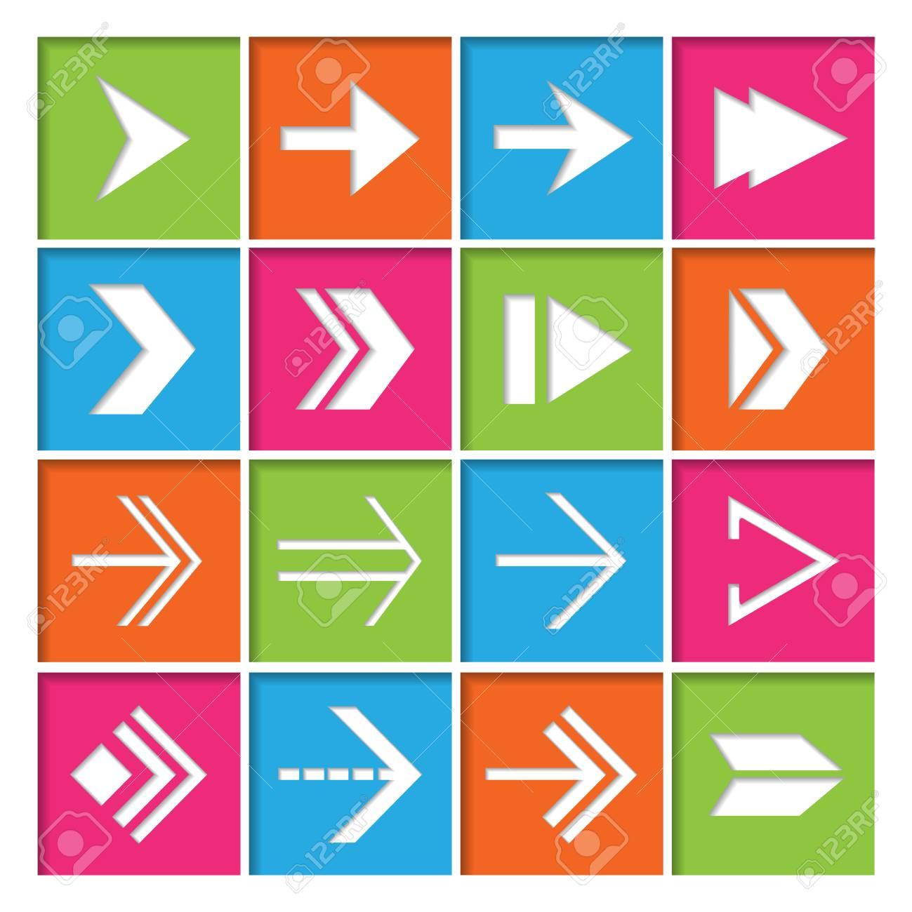 Vorwärts Nächsten Pfeile Symbole Symbole Für Elektronische Geräte ...