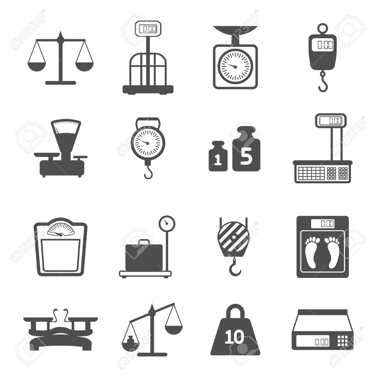 Weight scales for trade pharmacy shopping measurement isolated vector illustration - 27595502