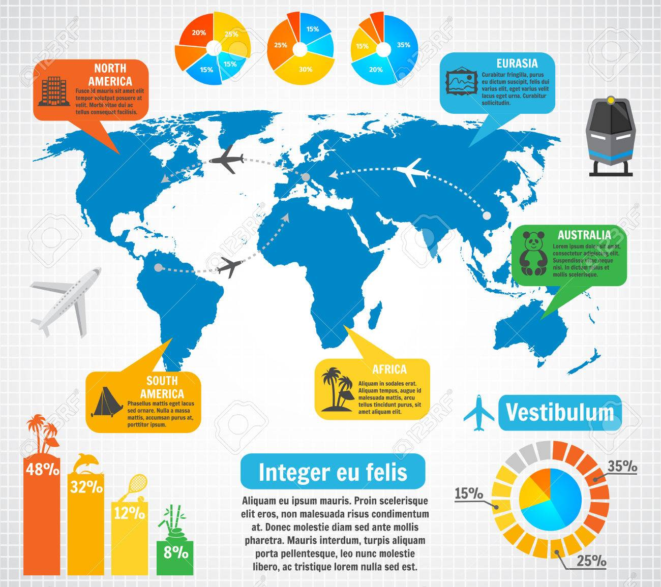 Tourism infographic elements set with world map travel tourism infographic elements set with world map travel destinations vector illustration stock vector 28494649 gumiabroncs Gallery