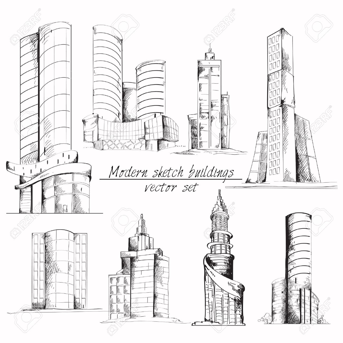 Modern 3d Urban Building With Architectural Elements Isometric ...
