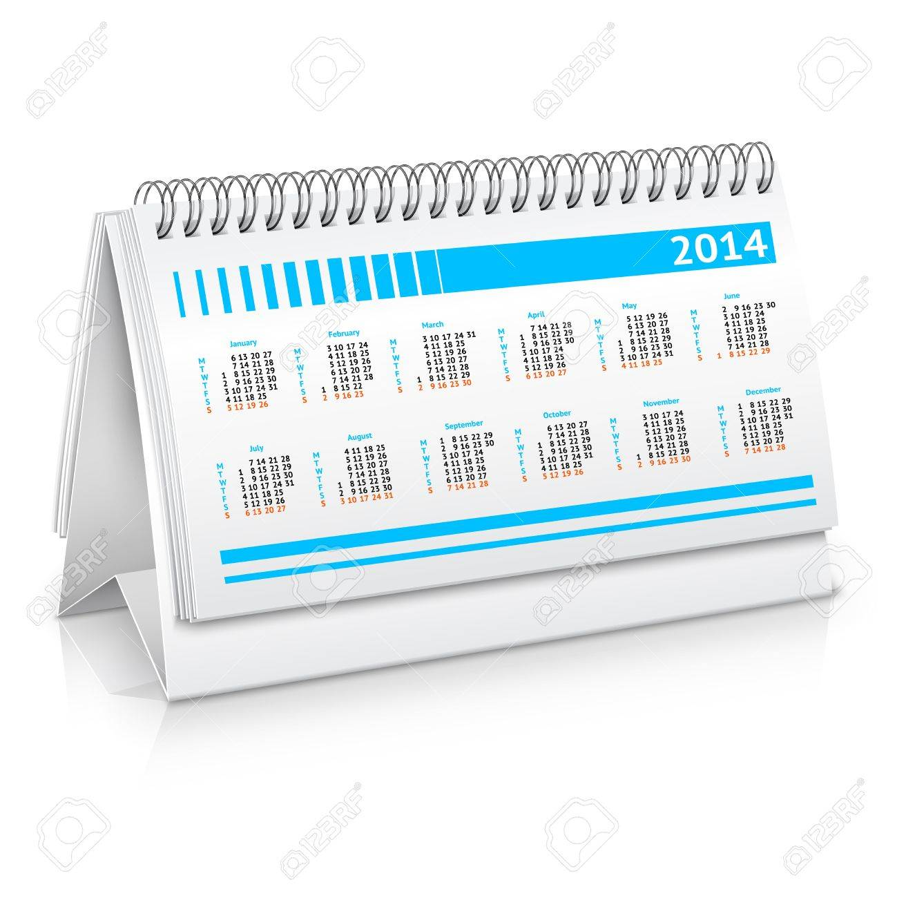 Spiral Desk Business Office Calendar Planner Mockup Vector – Free Office Calendar