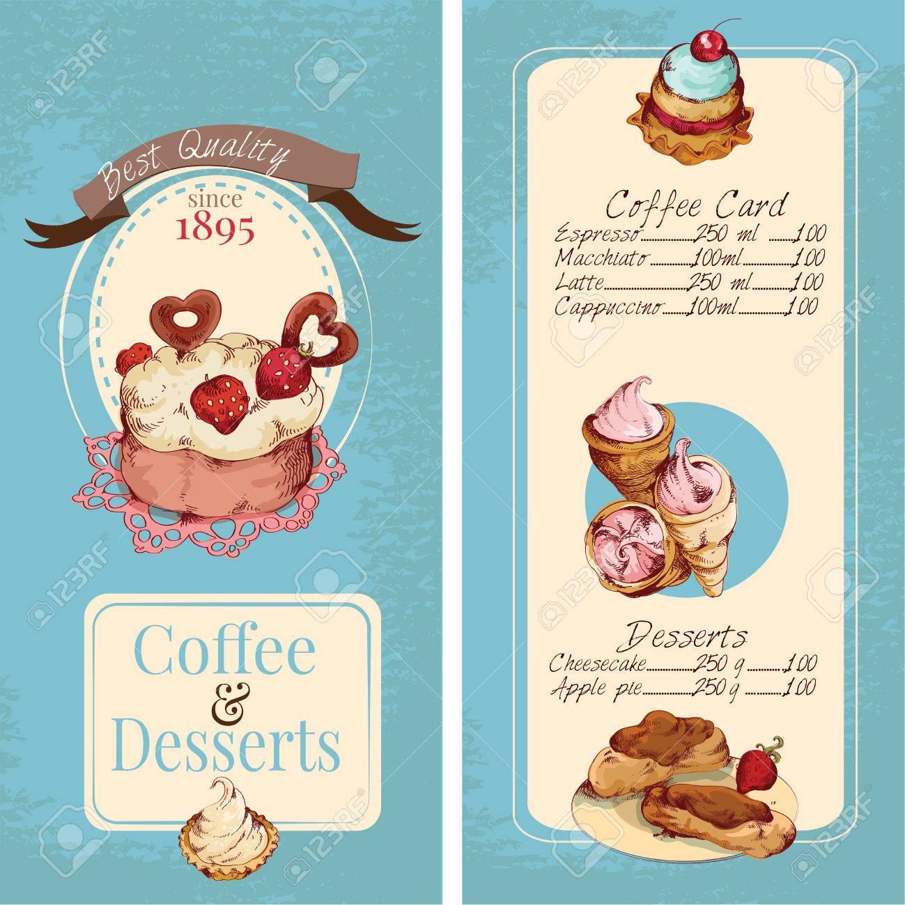 Carte Boulangerie.Bonbons Alimentaires Boulangerie Et De La Patisserie Croquis Vecteur