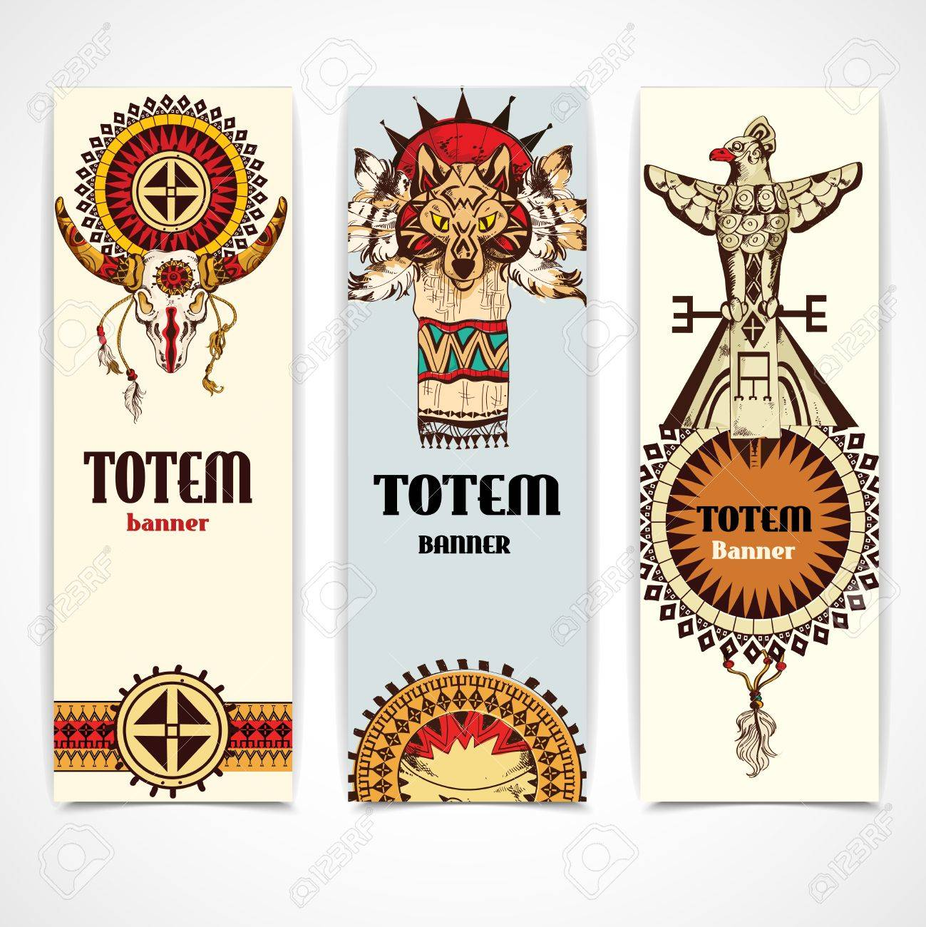 3 736 totem element stock vector illustration and royalty free