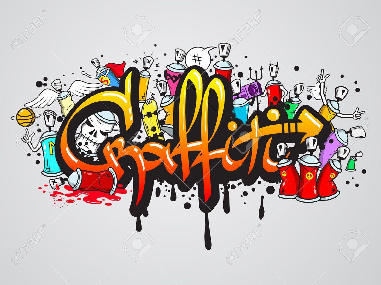 Decoratifs Graffiti Art Pulverisation Lettres Et Des Caracteres