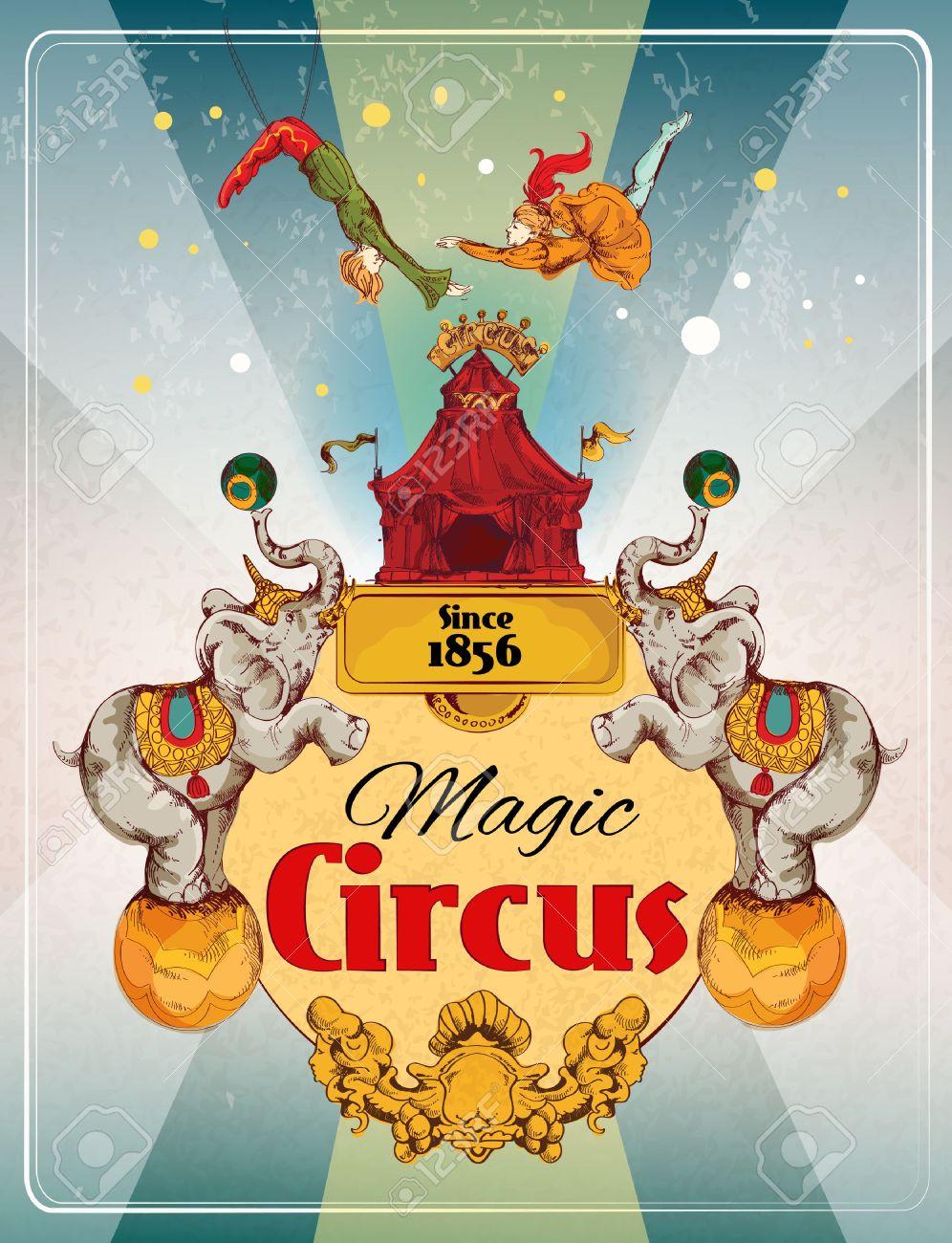 Fabuleux Tente De Cirque Itinérant Spectacle De Magie Fantastique Annonce  KA62