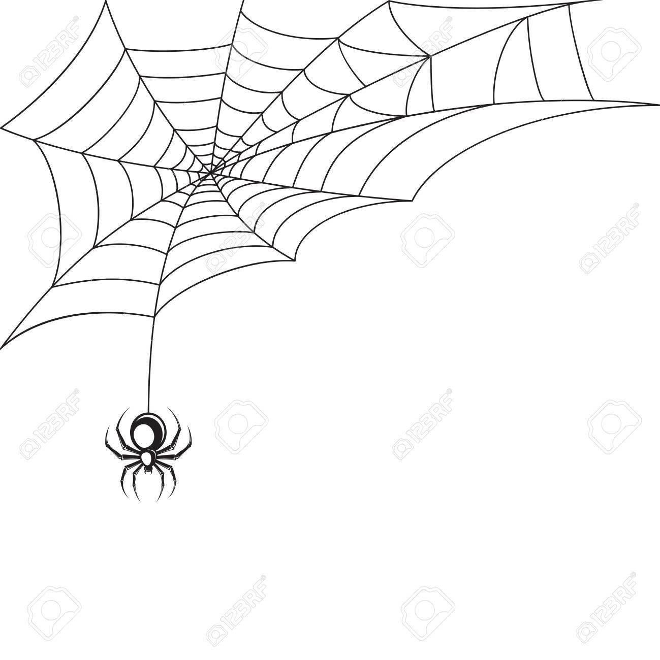 毒蜘蛛の巣ハロウィンのシンボルの壁紙テンプレート ベクトル イラストの