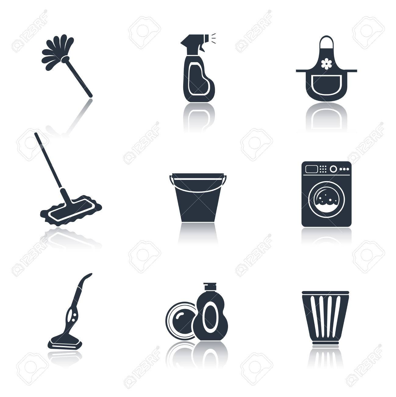 set of mop vacuum cleaner  Vacuum Vector