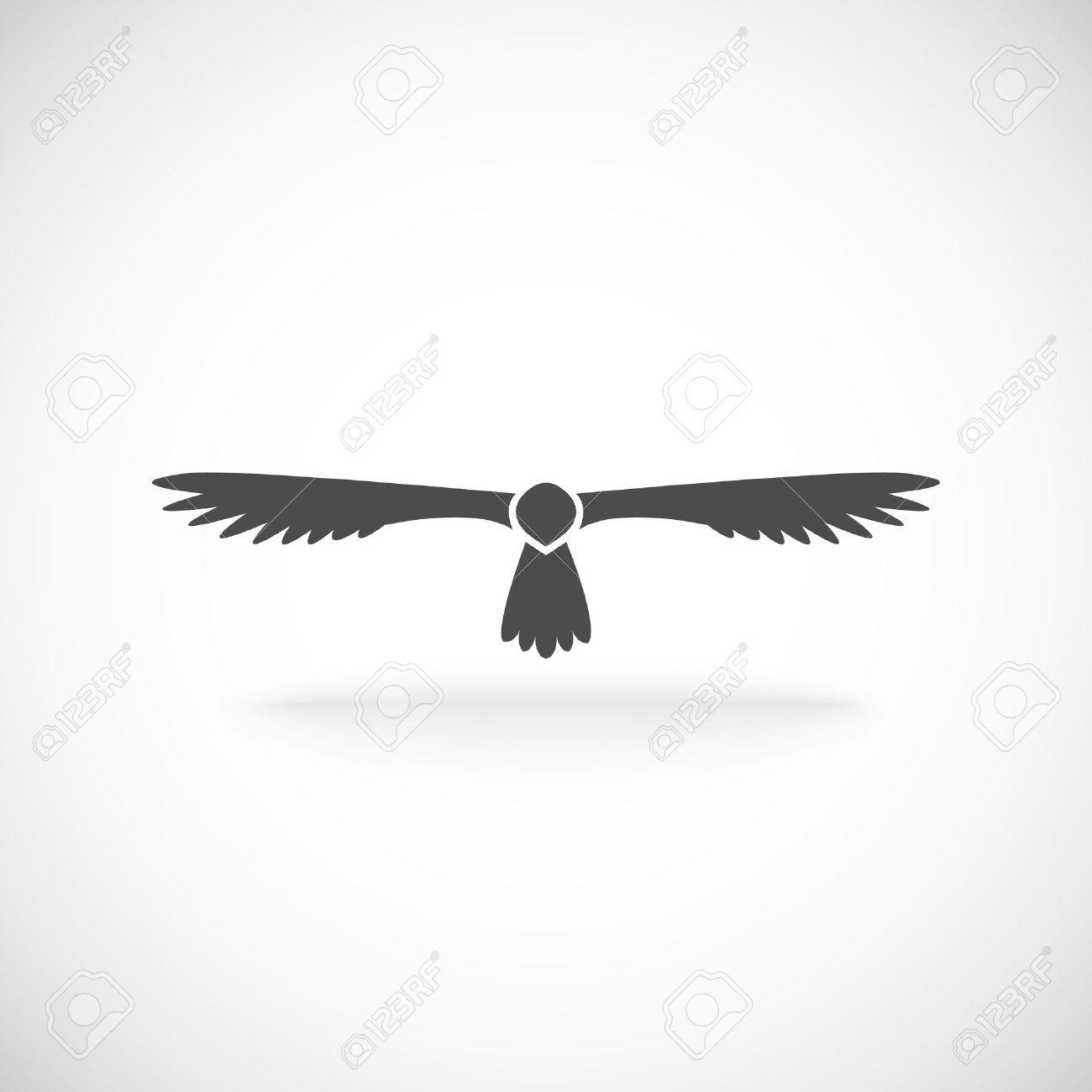 Adler Aloft Breiteten Flugeln Symbol Des Geistes Kraft Und Starke