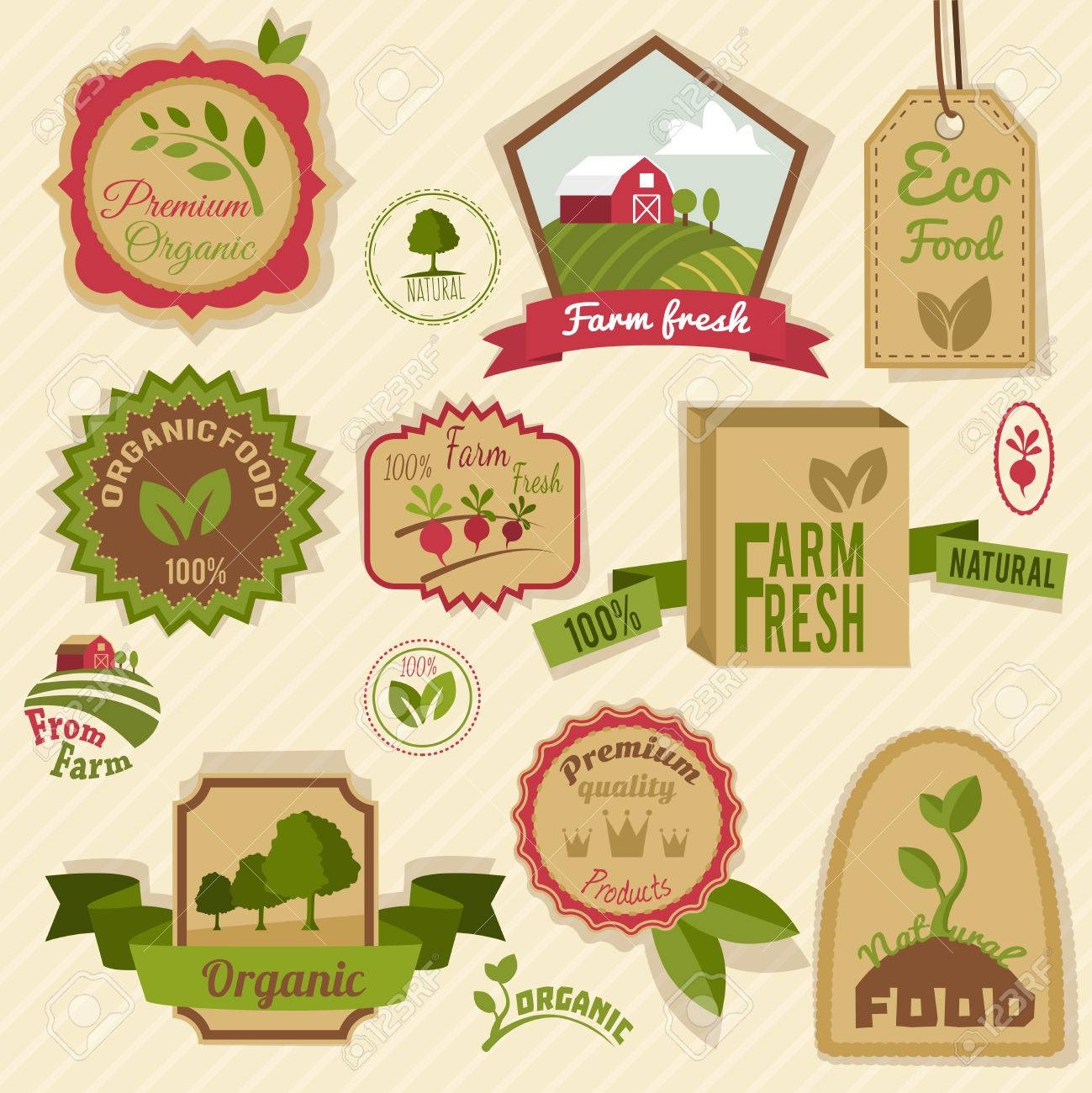 Farm Fresh Natural Products Organic Agriculture Food Vintage ...