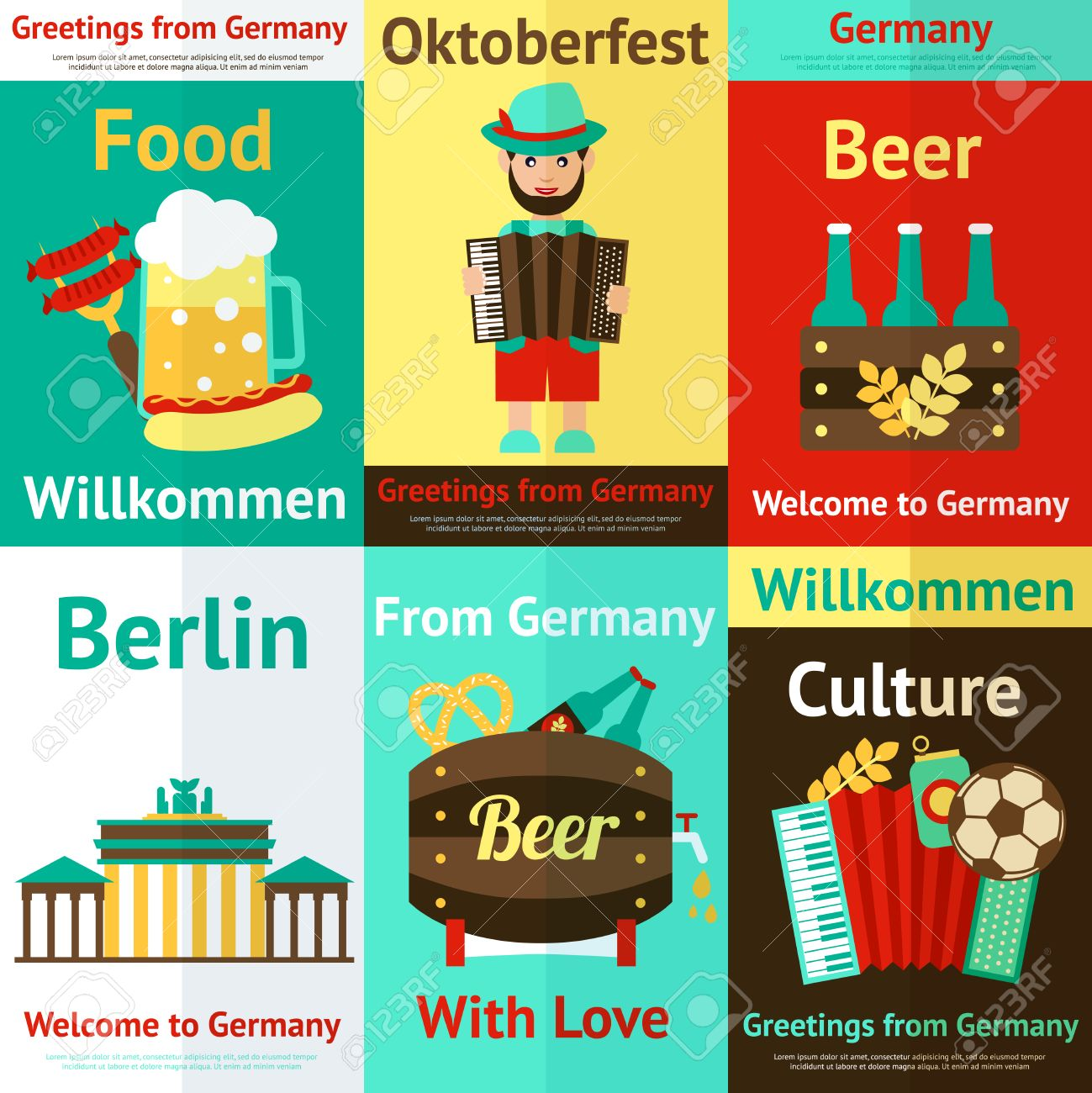 Germany Travel Traditional Food Culture And Attractions Retro ...